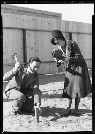 Publicity shots at airport, etc., Southern California, 1929