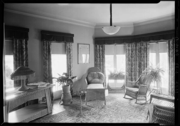 Interiors at 454 South Windsor Boulevard, Los Angeles, CA, 1927