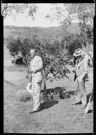 Orange Growers Association tree planting, Southern California, 1928