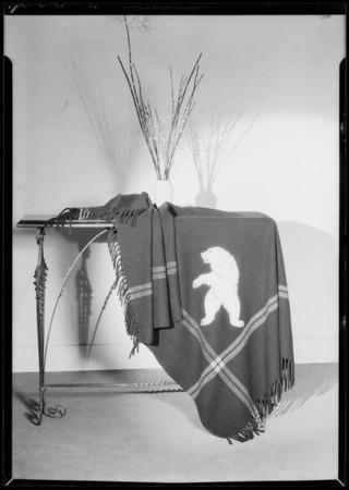 Automobile robes, Emblem Petroleum Co., Southern California, 1931