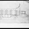Line drawing of trucks, Southern California, 1931