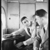 Traveling with radio in Maddux plane, Southern California, 1929