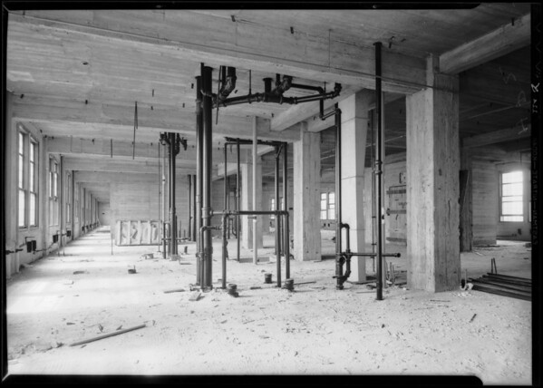County Hospital plumbing installations, Los Angeles, CA, 1931