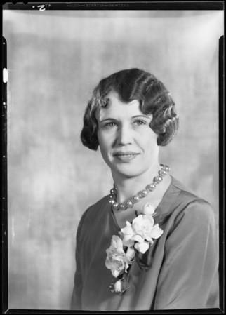 Portrait of Miss Myers, Southern California, 1930