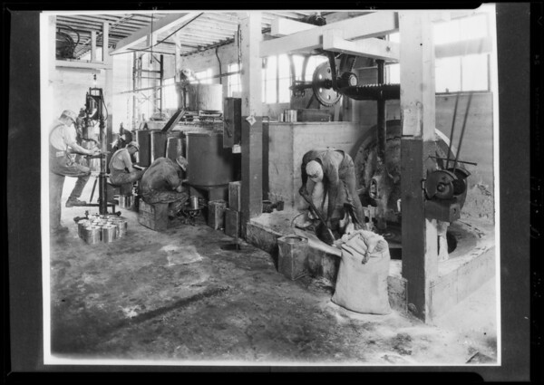 Copies of photographs of Bradley-Wise Paint Co. plant, Southern California, 1928