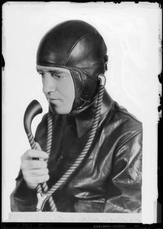 Copy of aviator's communicatory helmet, Southern California, 1929