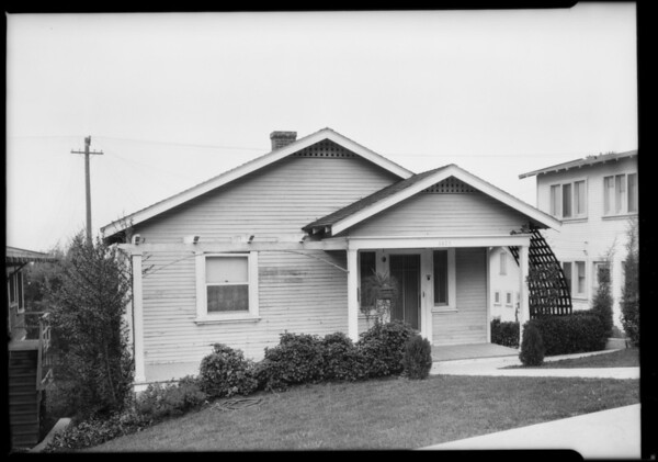 4421 Bernice, Southern California, 1925