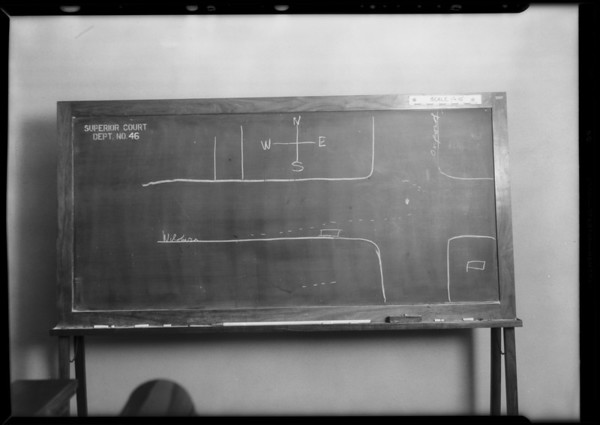 Blackboard, Chapman vs. Lach and Williams, Southern California, 1931
