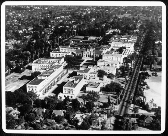 An aerial view of the California Institute of Technology