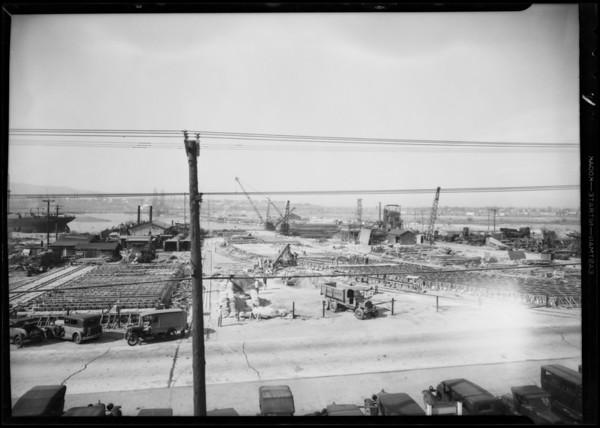 Piling job, Wilmington, Los Angeles, CA, 1931