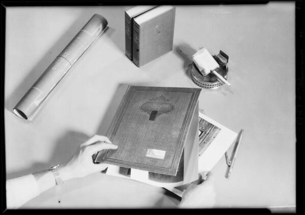Shots of salesman's album, Pacific Door & Sash, Southern California, 1929