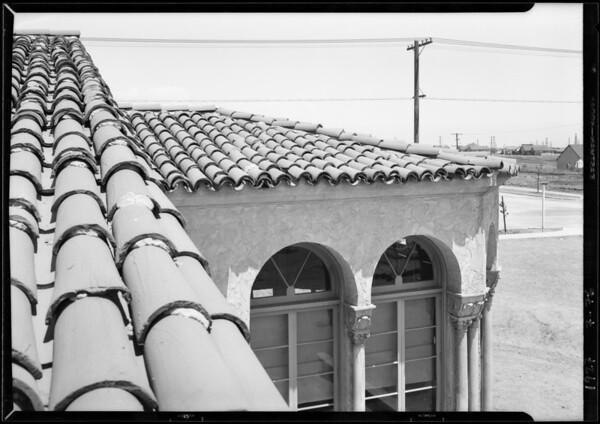 Tile on roof of Fairburn Avenue School, Los Angeles, CA, 1927