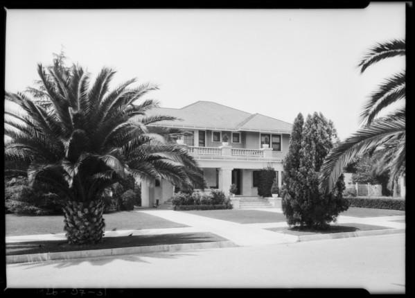 Home of Watt Moreland, 1763 Buckingham Road, Los Angeles, CA, 1925