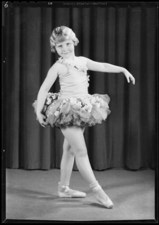 Children in dance poses, Pollard School of the Dance, Southern California, 1931