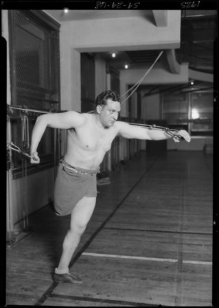 Will Rabin at YMCA, Southern California, 1925