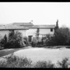 Exterior of houses at Bel Air, Los Angeles, CA, 1931