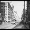 Christmas decorations on street, Los Angeles, CA, 1929