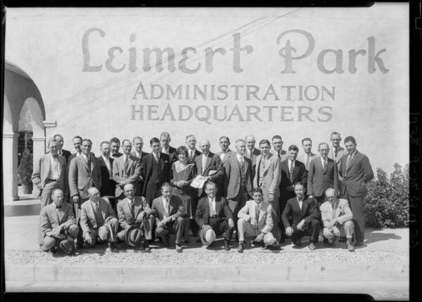 New salesman group, Leimert Park, Los Angeles, CA, 1928