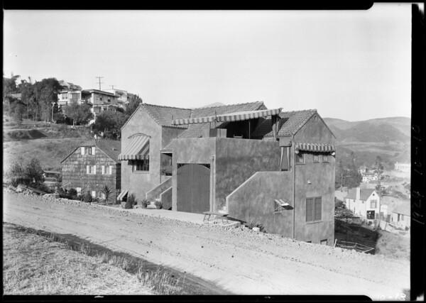 Houses on hillside - 2472, Southern California, 1924