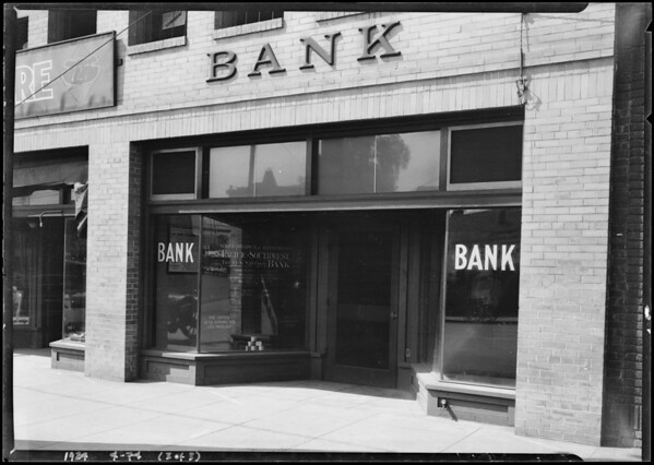 Pacific-Southwest Trust & Savings Bank - North Broadway and Alpine Branch, 729 North Broadway, Los Angeles, CA, 1924