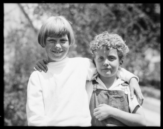 Children in yard, Southern California, 1928