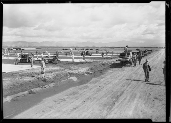 Construction, Runnymede, Southern California, 1930