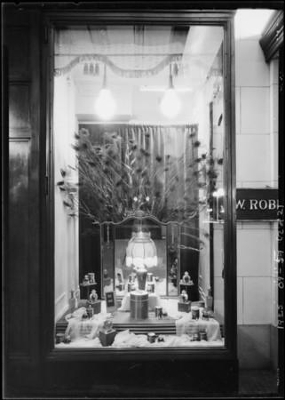 Perfume window, Southern California, 1925