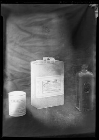 Gallon can & jars, Paris Hair Co., Southern California, 1928