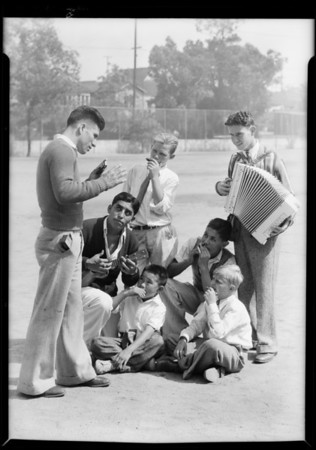 Harmonica band, Southern California, 1931