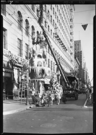 Erecting castles by Merry Workers, Southern California, 1929