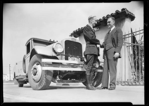 Goodrich test truck, Southern California, 1931