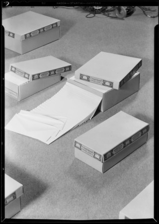 Boxes for roto ads, Hollywood Paper Box Co., Southern California, 1930