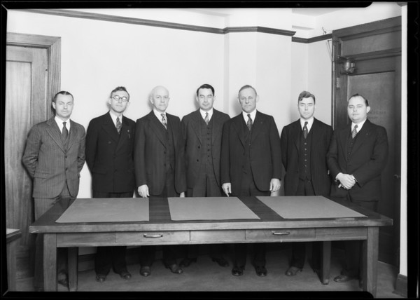 Group of men, Beet Insurance Co., Southern California, 1930