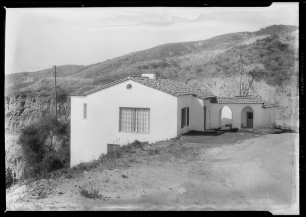 Hillside homes, Southern California, 1928