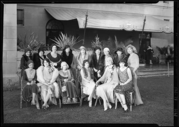Group of women at El Royale, Southern California, 1929