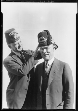 Potentate Gillette & Mayor Cryer, Southern California, 1928