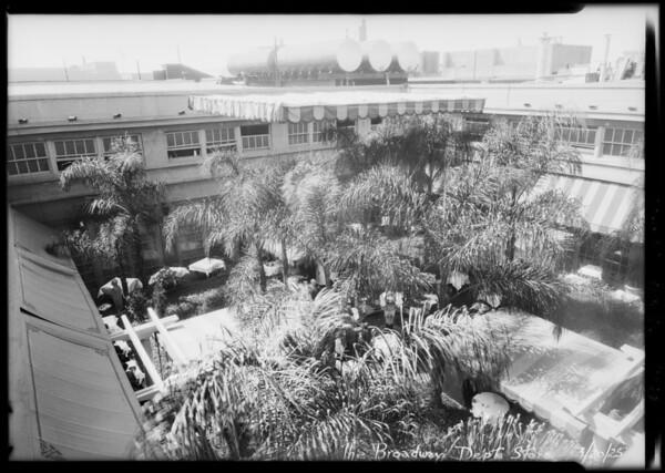 Roof garden cafe, Broadway Department Store, Los Angeles, CA, 1925