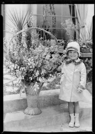 Mr. Block's daughter Jacqueline, publicity at Leimert Park, Los Angeles, CA, 1929