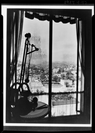 View from office, Dr. James D. Park, Hollywood, Los Angeles, CA, 1929
