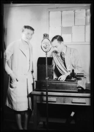Bobby Trout, KFI, Southern California, 1929