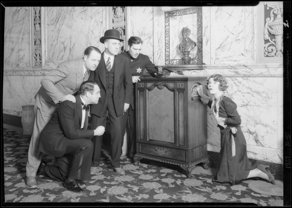 Radio in lobby of President Theatre, Southern California, 1929