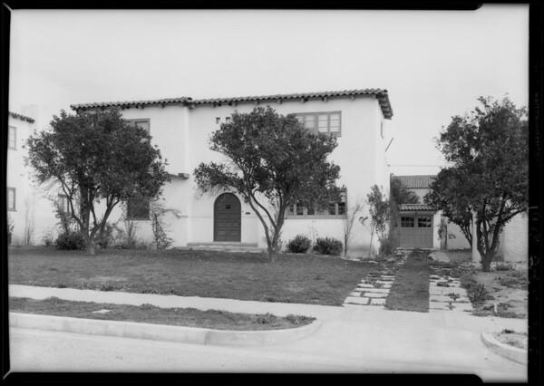 5 homes at San Marino, CA, 1928