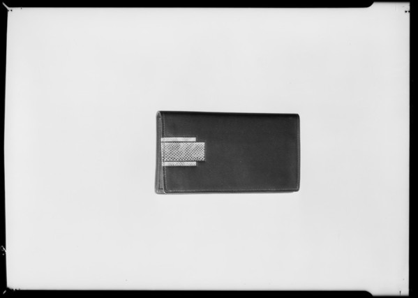 Leather goods, Southern California, 1931