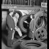 Publicity, new retreading machine, etc., Southern California, 1930