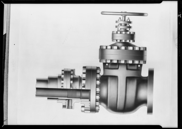 Regan valve flange, Southern California, 1930