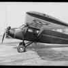 Stinson plane, Clover Field Airport, Santa Monica, 1931
