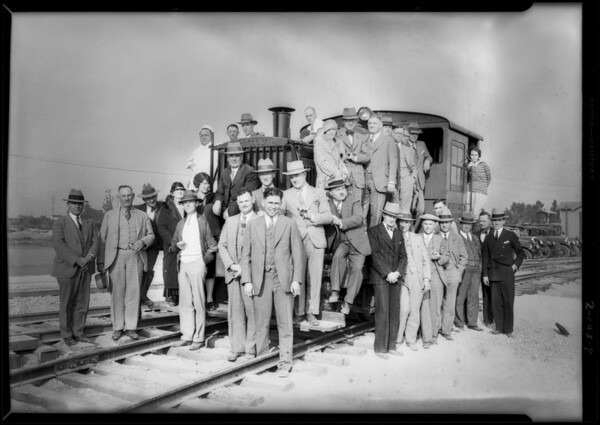 Officials inspecting plant at Baldwin Park, CA, 1928