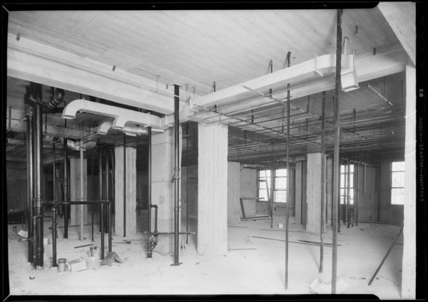 Work at County Hospital, Haverty Co., Los Angeles, CA, 1931