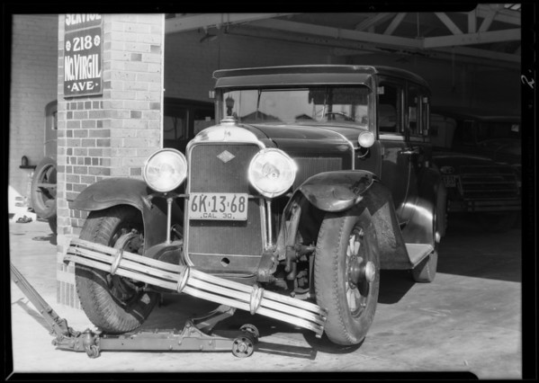 Buick sedan, assured Mrs. W. E. McCully, Southern California, 1930