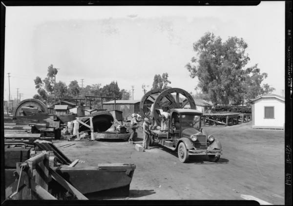 Associated Supply Co. truck at Los Nietos, Los Angeles, CA, 1929